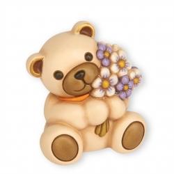 Teddy che porge mazzo di fiori 40 cm - Thun