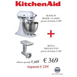 Offerta Robot, Bianco + Tritatutto - KitchenAid Classic
