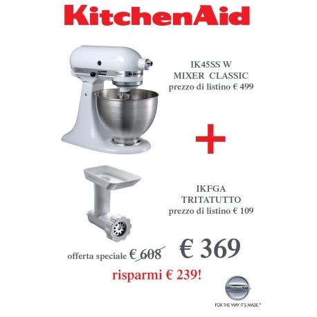 Offerta Robot, Bianco + Tritatutto - KitchenAid Classic - Idea ...