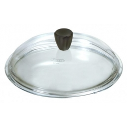 Coperchio vetro Cm. 28 pomolo soft touch - Pentolpress