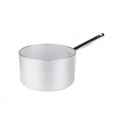 Casseruola alta in alluminio un manico inox cm. 16 - Agnelli