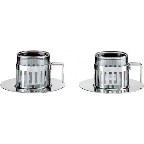 Set di due tazze da caffè con sottotazza
