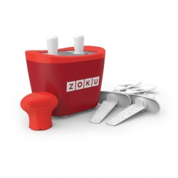 Zoku 2 quick pop maker per ghiaccioli immediati rosso - Zoku