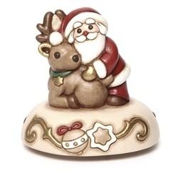 Carillon Babbo Natale con renna - Thun