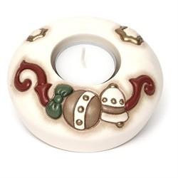 Porta tea-light campanella e palla natalizia - Thun