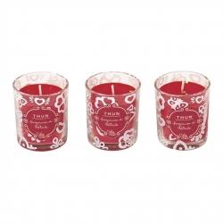 Set 3 candele piccole Natale - Thun