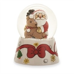 Boule de neige Babbo Natale con renna - Thun