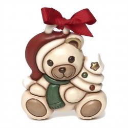 Mini formella Teddy Natale con albero - Thun