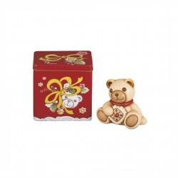 Teddy con biscotto + scatola in latta - Thun