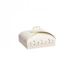 Scatola torta con manico Cm. 29x29x10 H. - Decora