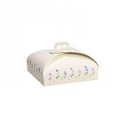 Scatola torta con manico Cm. 31x31x10 H. - Decora