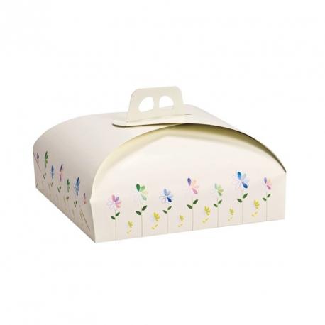 Scatola torta con manico Cm. 43x43x10 H. - Decora