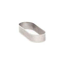 Fascia ovale inox microforata Cm. 9x19x3,5 H. - Pavoni