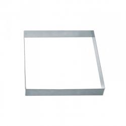 Fascia quadrata inox piena Cm. 14x14x2 H. - Pavoni