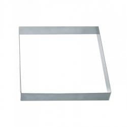 Fascia quadrata inox piena Cm. 16x16x2 H. - Pavoni