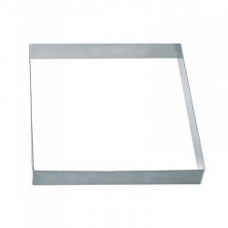 Fascia quadrata inox piena Cm. 18x18x2 H. - Pavoni