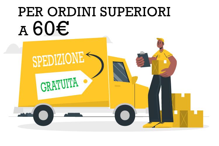 Acquisti gratuiti sopra i 50€